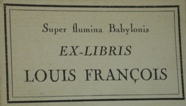 Printed bookplate by Louis François
