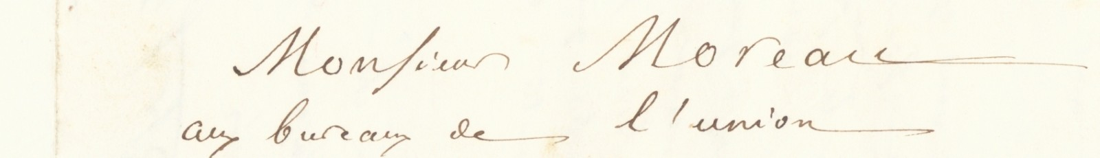 Address of a letter from Ferdinand Béchart to Célestin Moreau (Ms 4652, file Béchart)